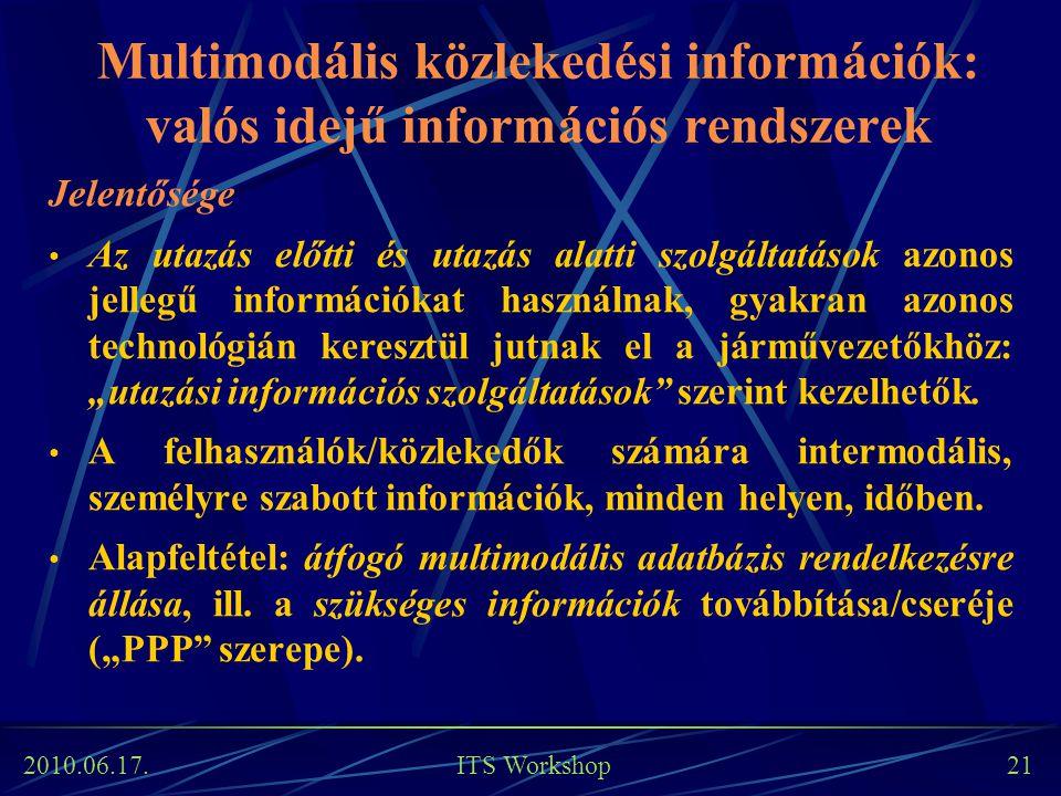 Multimodális közlekedési információk: valós idejű információs rendszerek