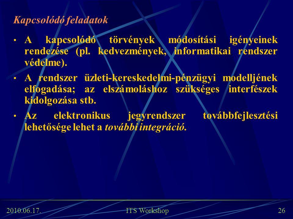 Kapcsolódó feladatok A kapcsolódó törvények módosítási igényeinek rendezése (pl. kedvezmények, informatikai rendszer védelme).