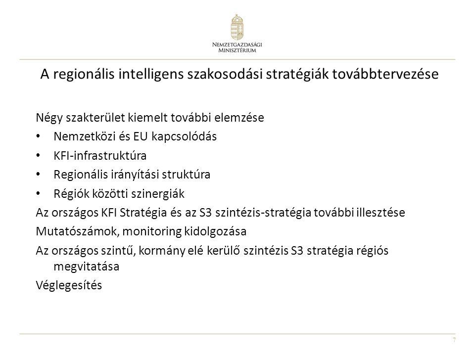 A regionális intelligens szakosodási stratégiák továbbtervezése