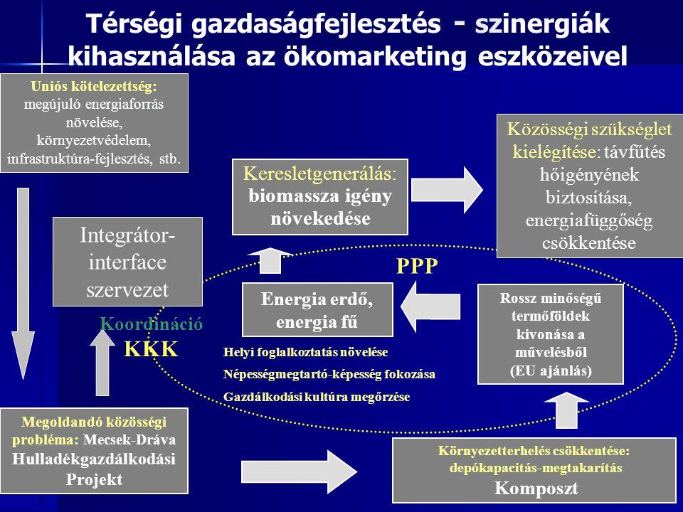 Térségi gazdaságfejlesztés - szinergiák kihasználása az ökomarketing eszközeivel