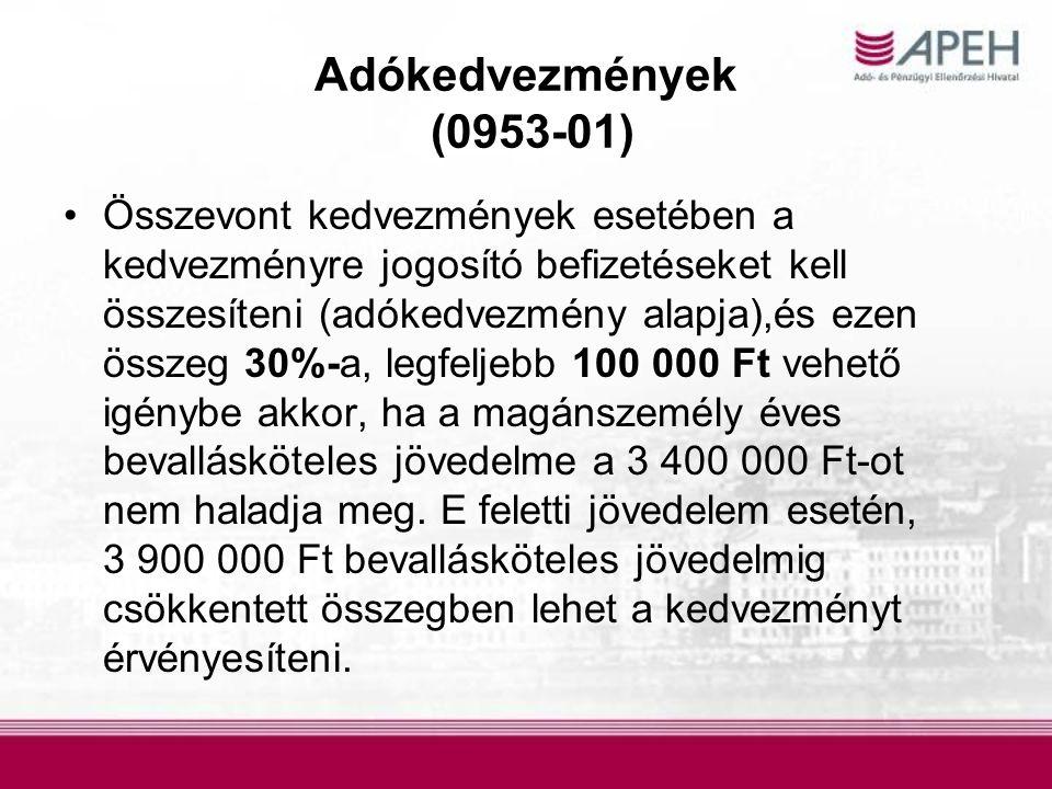 Adókedvezmények (0953-01)
