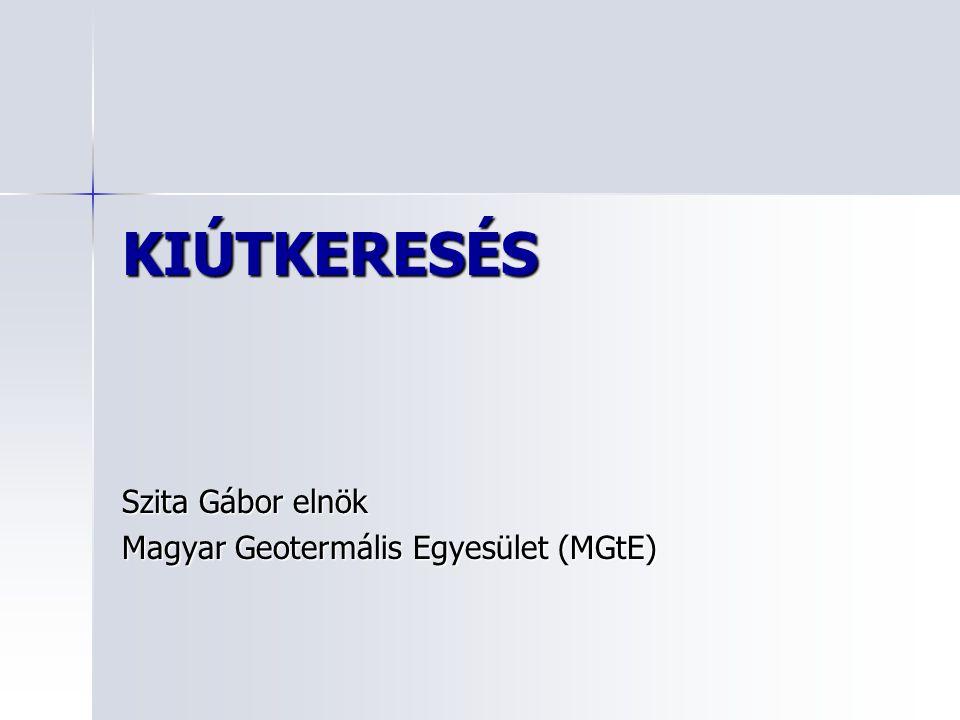 Szita Gábor elnök Magyar Geotermális Egyesület (MGtE)