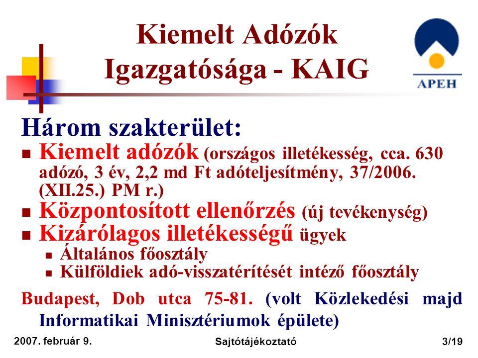 Kiemelt Adózók Igazgatósága - KAIG