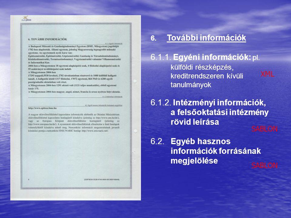 6.1.2. Intézményi információk, a felsőoktatási intézmény rövid leírása