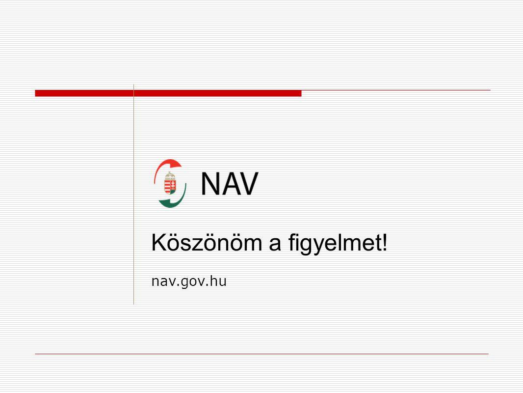 Köszönöm a figyelmet! nav.gov.hu