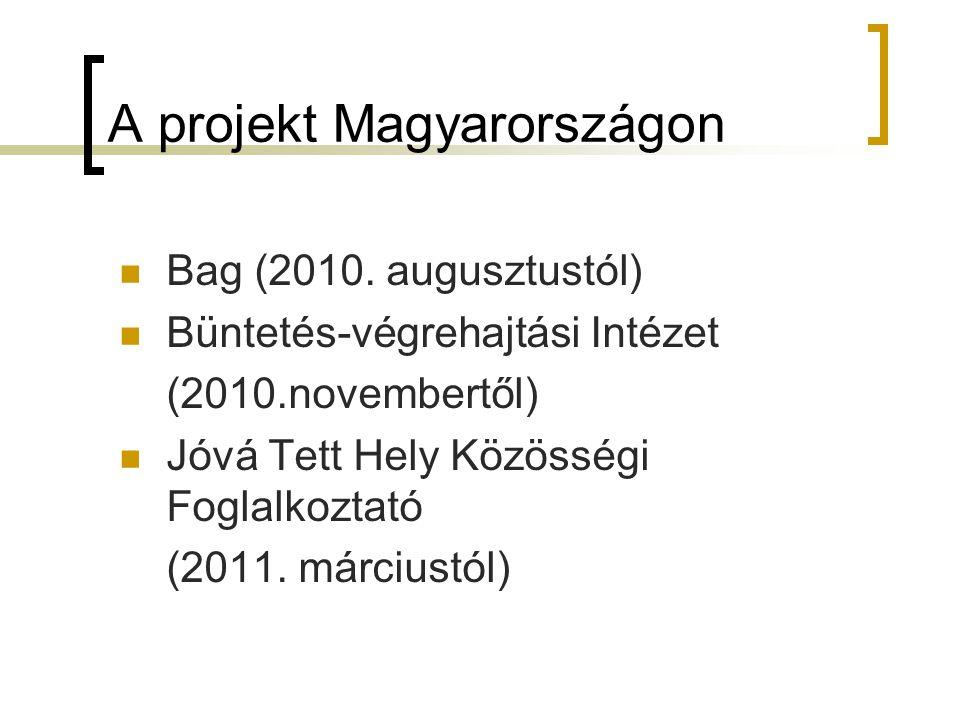 A projekt Magyarországon