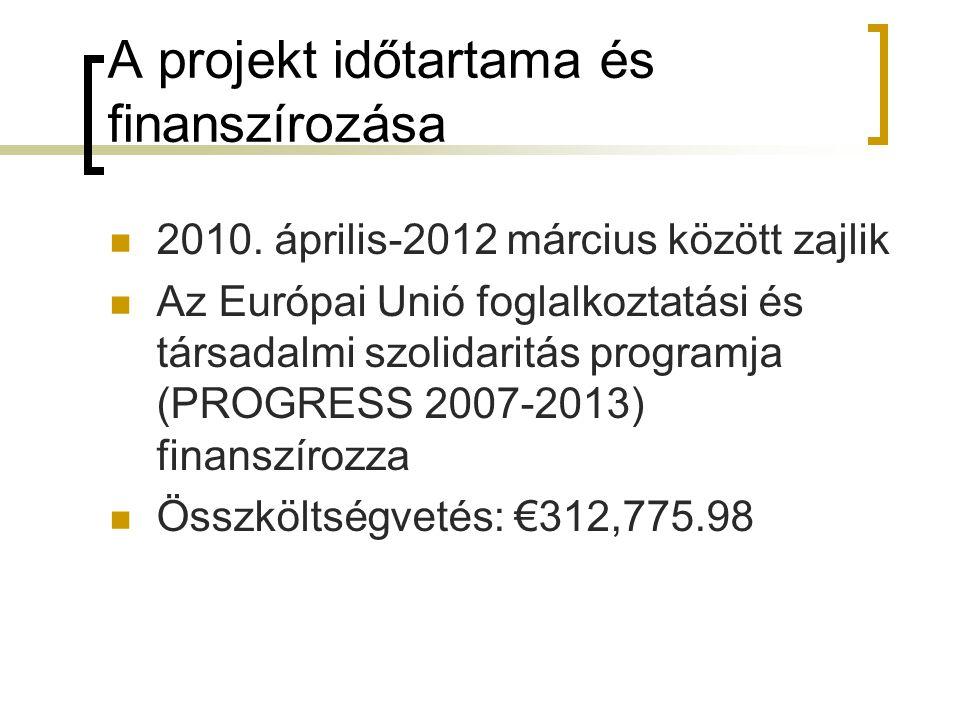 A projekt időtartama és finanszírozása
