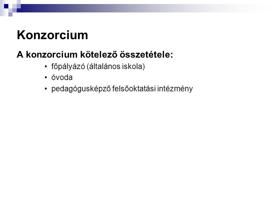 Konzorcium A konzorcium kötelező összetétele: