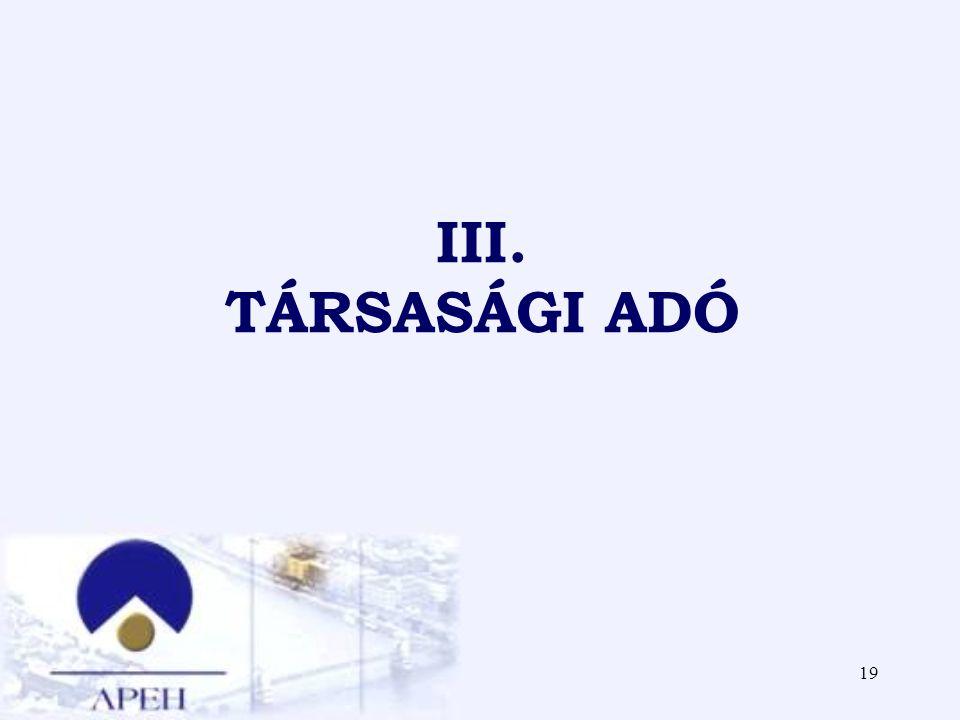 III. TÁRSASÁGI ADÓ