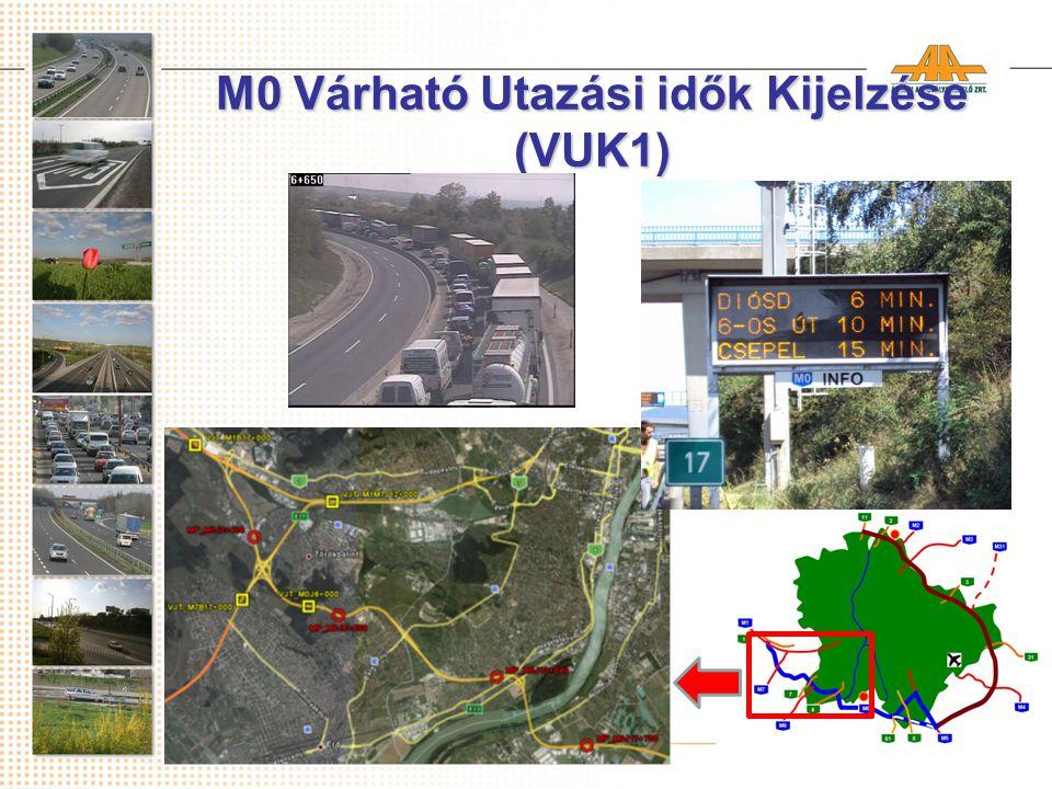 M0 Várható Utazási idők Kijelzése (VUK1)