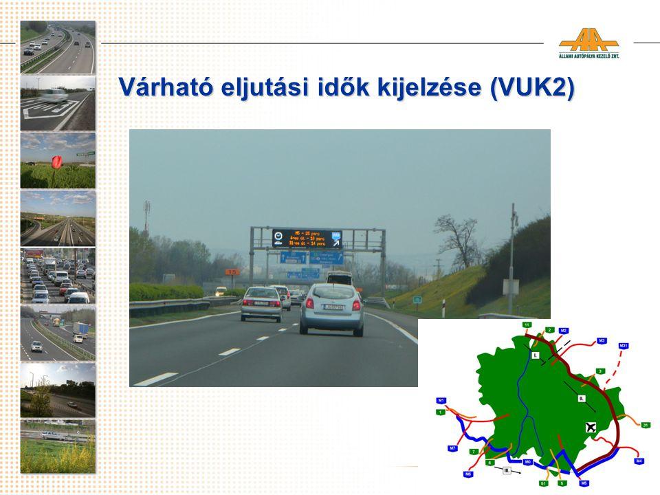 Várható eljutási idők kijelzése (VUK2)