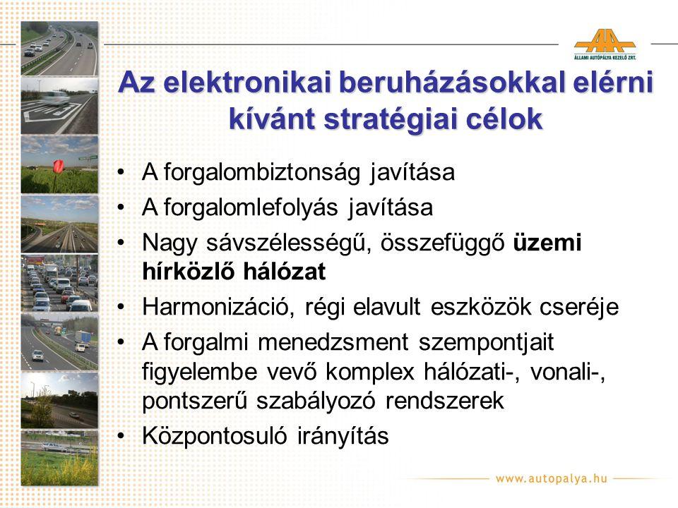 Az elektronikai beruházásokkal elérni kívánt stratégiai célok