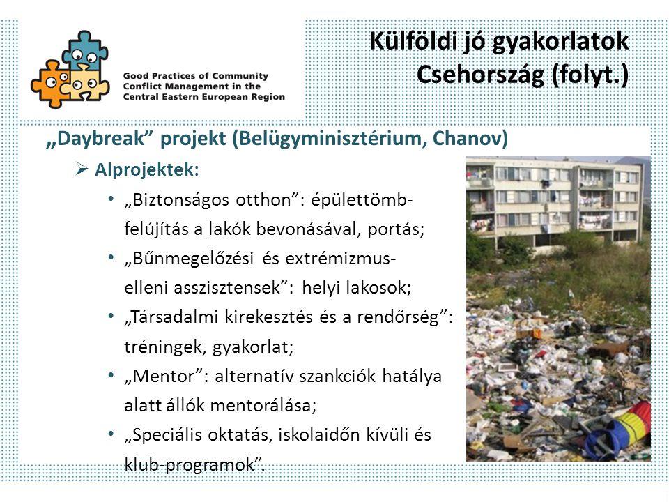 Külföldi jó gyakorlatok Csehország (folyt.)
