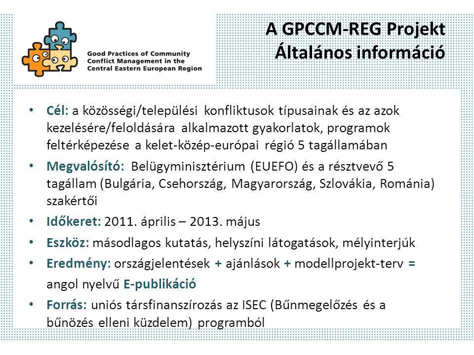 A GPCCM-REG Projekt Általános információ
