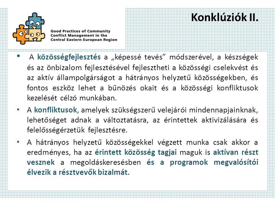 Konklúziók II.