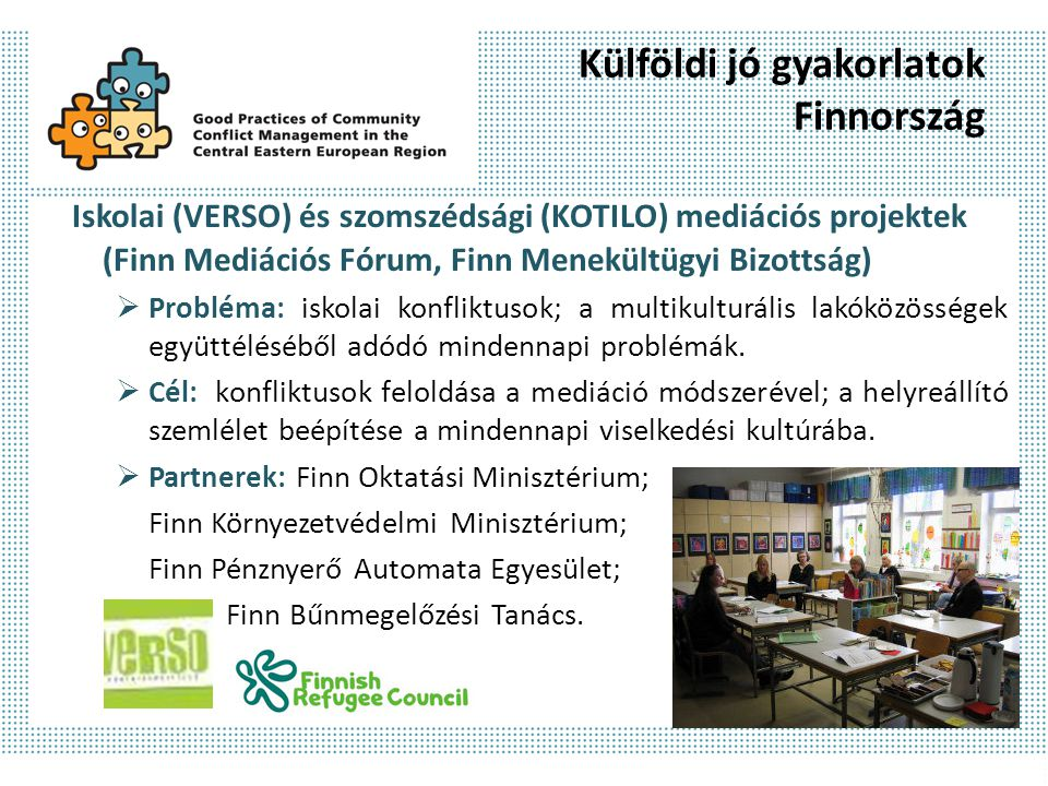 Külföldi jó gyakorlatok Finnország