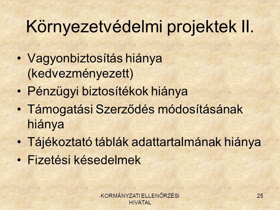 Környezetvédelmi projektek II.