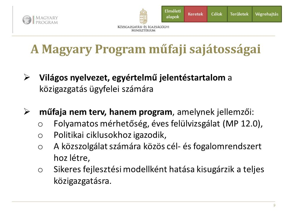 A Magyary Program műfaji sajátosságai