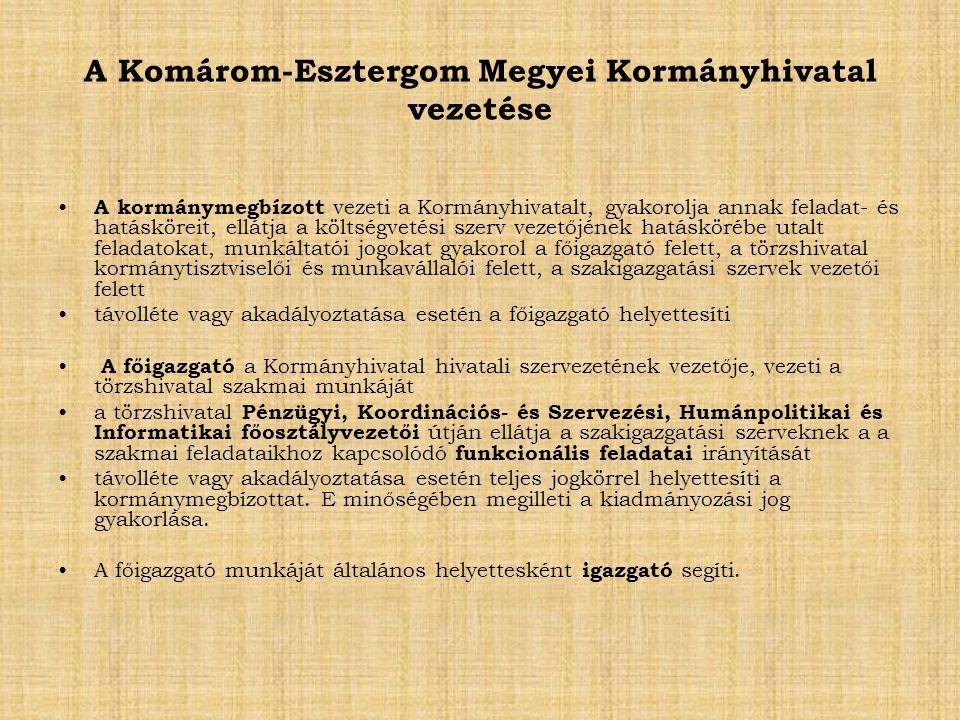 A Komárom-Esztergom Megyei Kormányhivatal vezetése