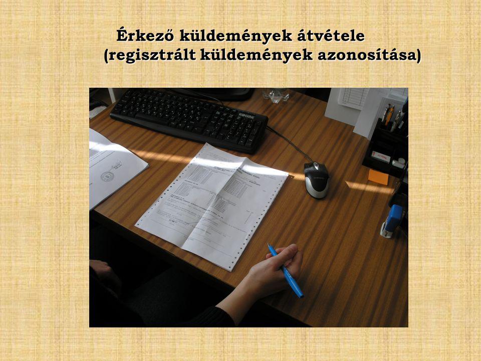 Érkező küldemények átvétele (regisztrált küldemények azonosítása)