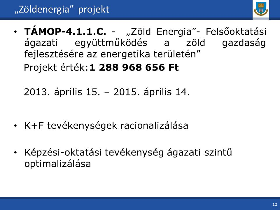 """Zöldenergia projekt"
