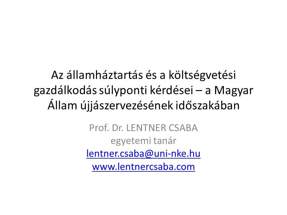Az államháztartás és a költségvetési gazdálkodás súlyponti kérdései – a Magyar Állam újjászervezésének időszakában