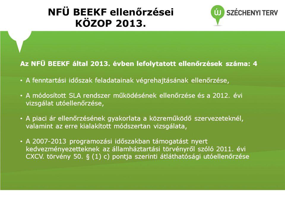NFÜ BEEKF ellenőrzései KÖZOP 2013.