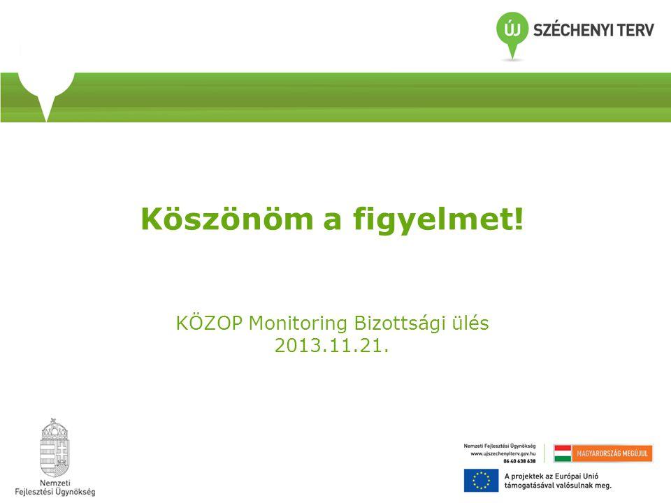 Köszönöm a figyelmet! KÖZOP Monitoring Bizottsági ülés 2013.11.21.