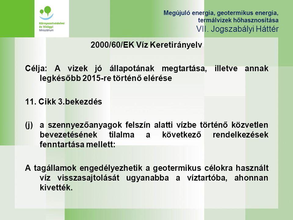 2000/60/EK Víz Keretirányelv