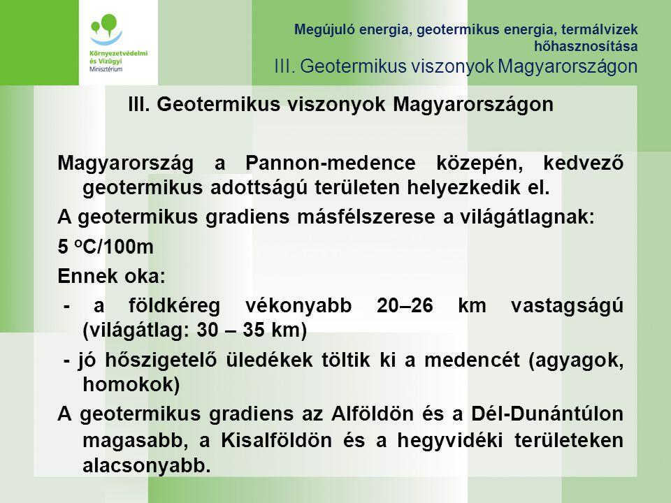 III. Geotermikus viszonyok Magyarországon