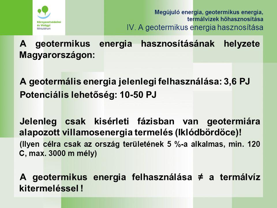 A geotermikus energia hasznosításának helyzete Magyarországon: