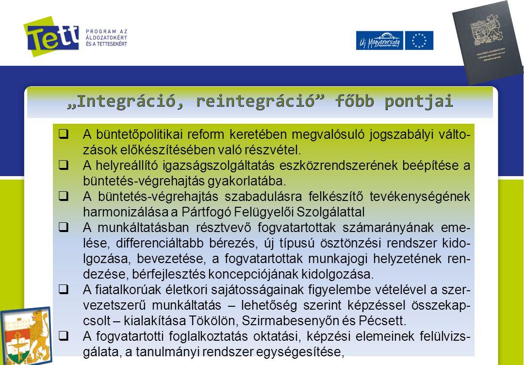 """""""Integráció, reintegráció főbb pontjai"""