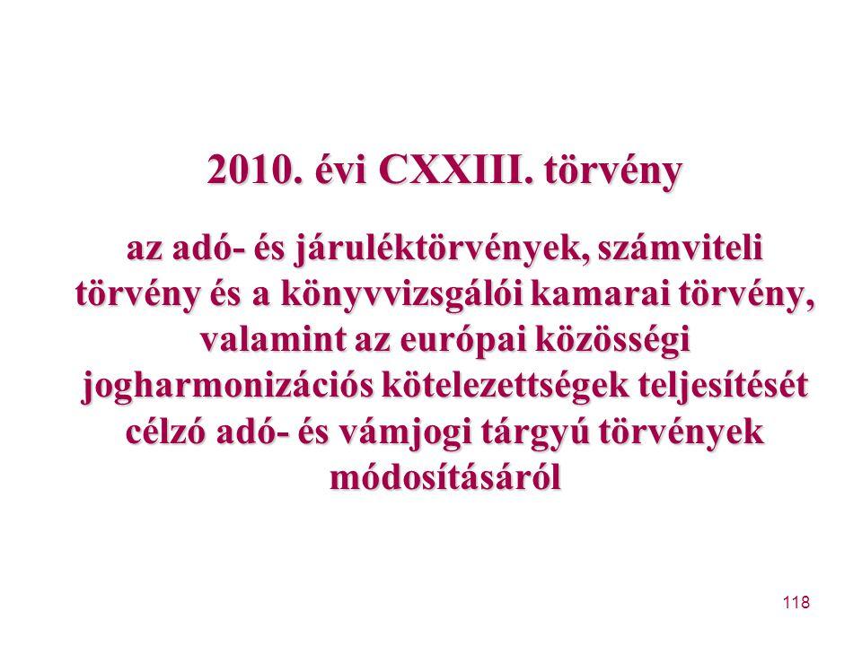 2010. évi CXXIII.