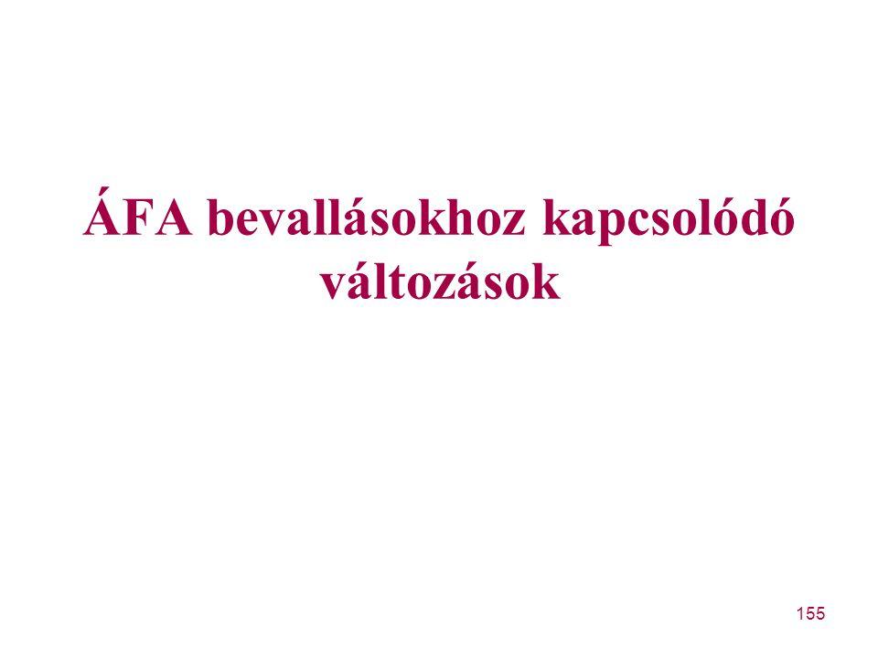 ÁFA bevallásokhoz kapcsolódó változások