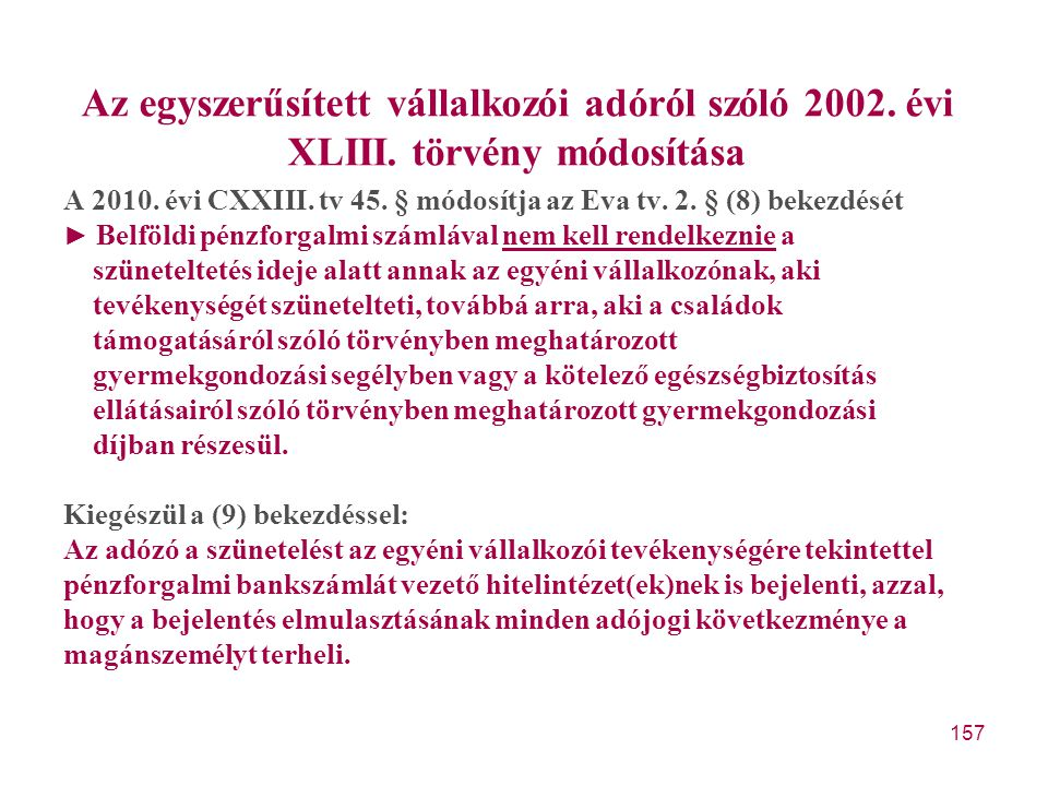 Az egyszerűsített vállalkozói adóról szóló 2002. évi XLIII