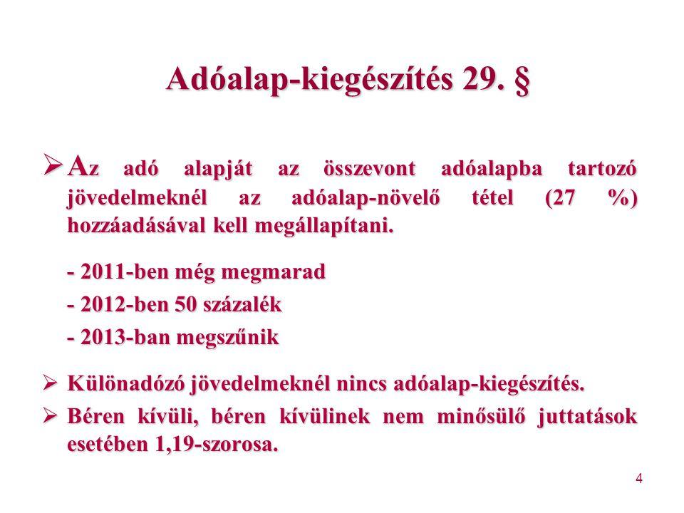 Adóalap-kiegészítés 29. §