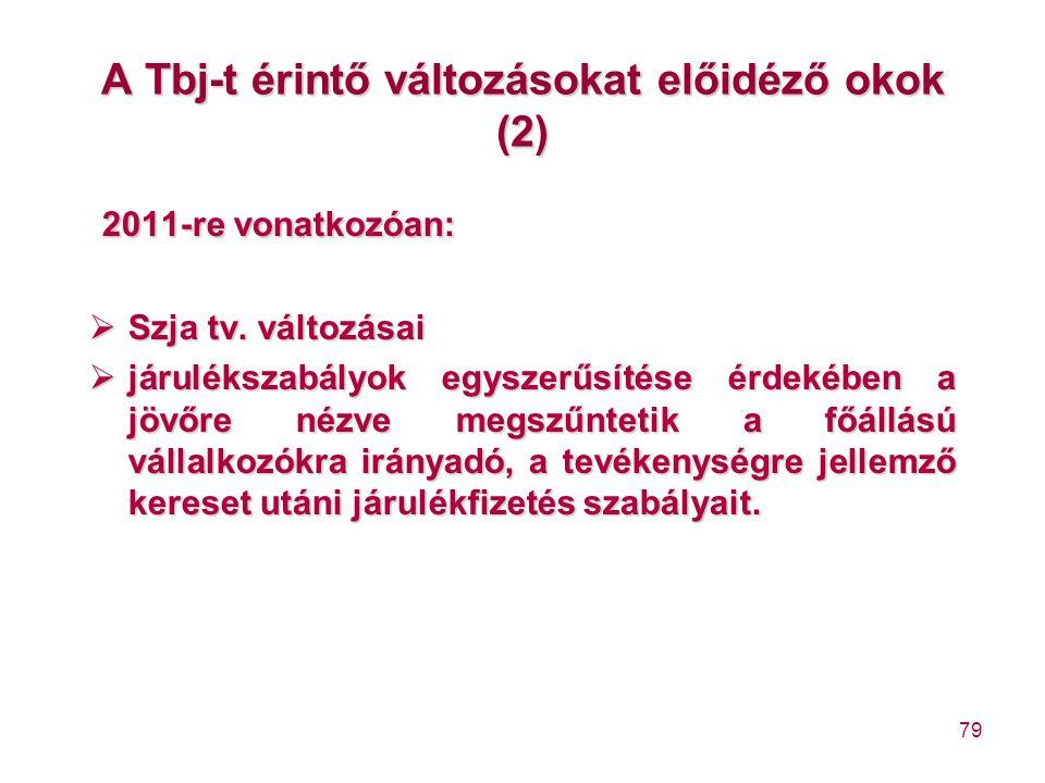 A Tbj-t érintő változásokat előidéző okok (2)