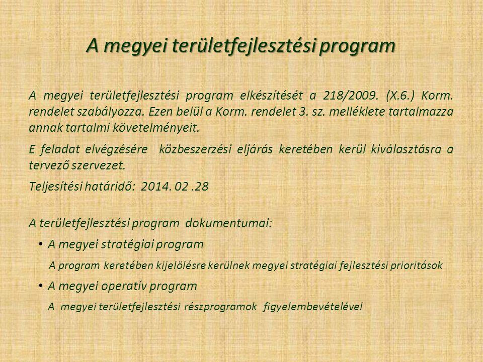 A megyei területfejlesztési program
