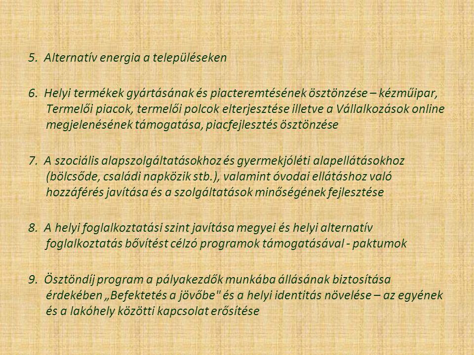 5. Alternatív energia a településeken 6