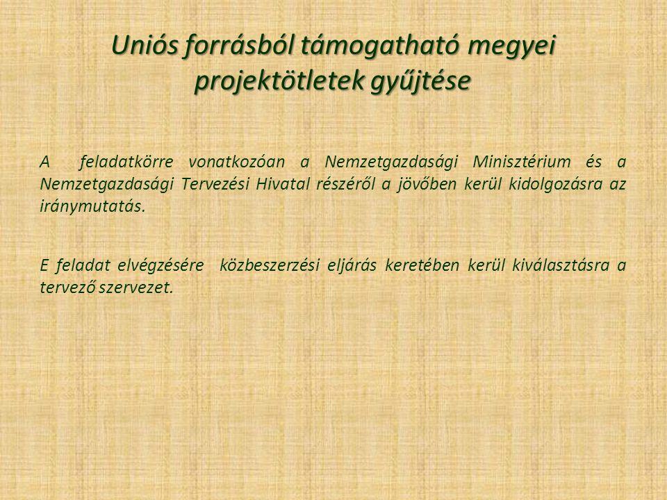 Uniós forrásból támogatható megyei projektötletek gyűjtése