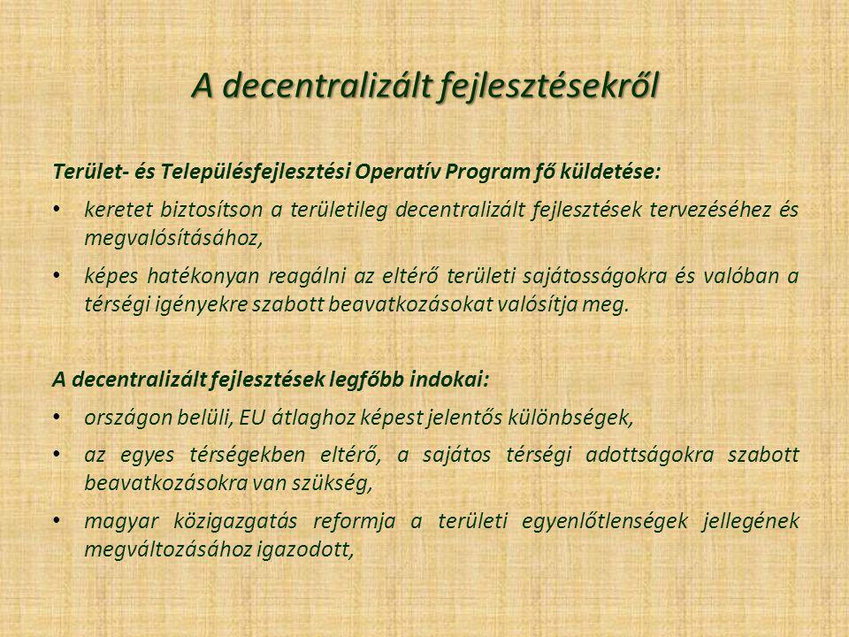 A decentralizált fejlesztésekről