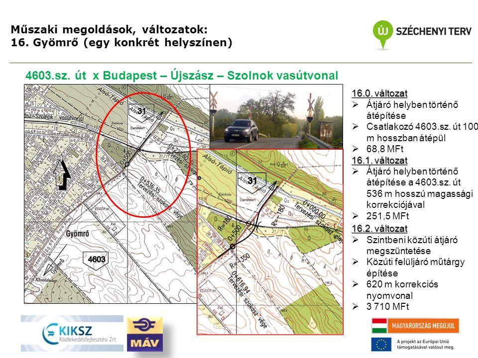 4603.sz. út x Budapest – Újszász – Szolnok vasútvonal