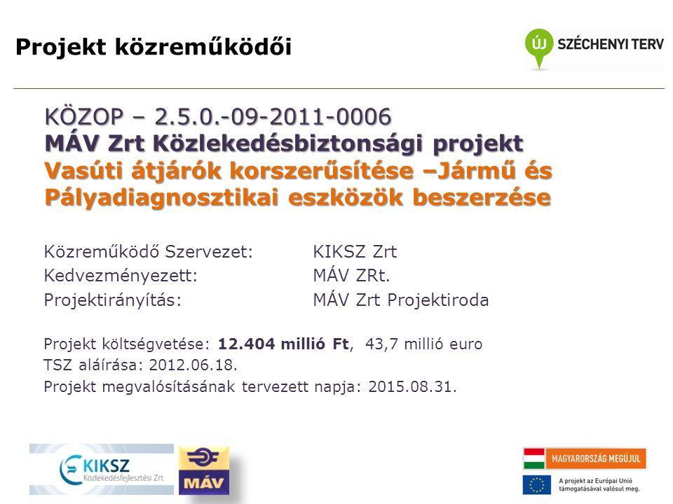 MÁV Zrt Közlekedésbiztonsági projekt