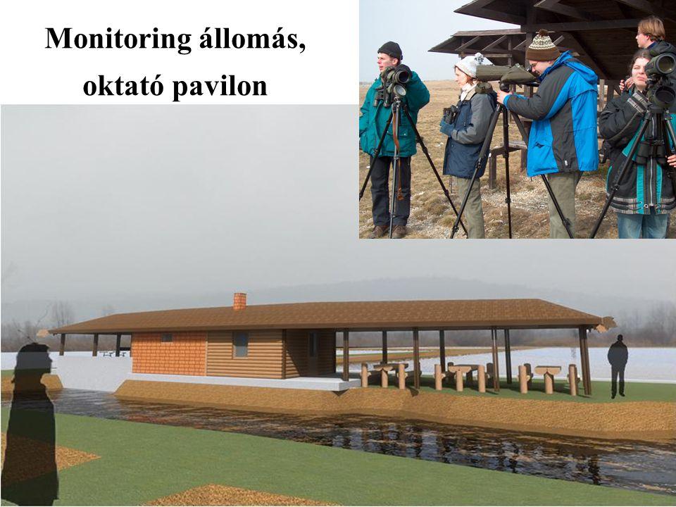 Monitoring állomás, oktató pavilon