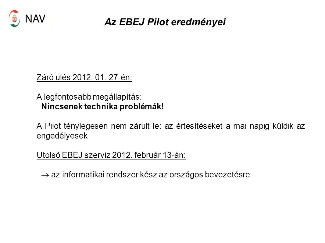 Az EBEJ Pilot eredményei