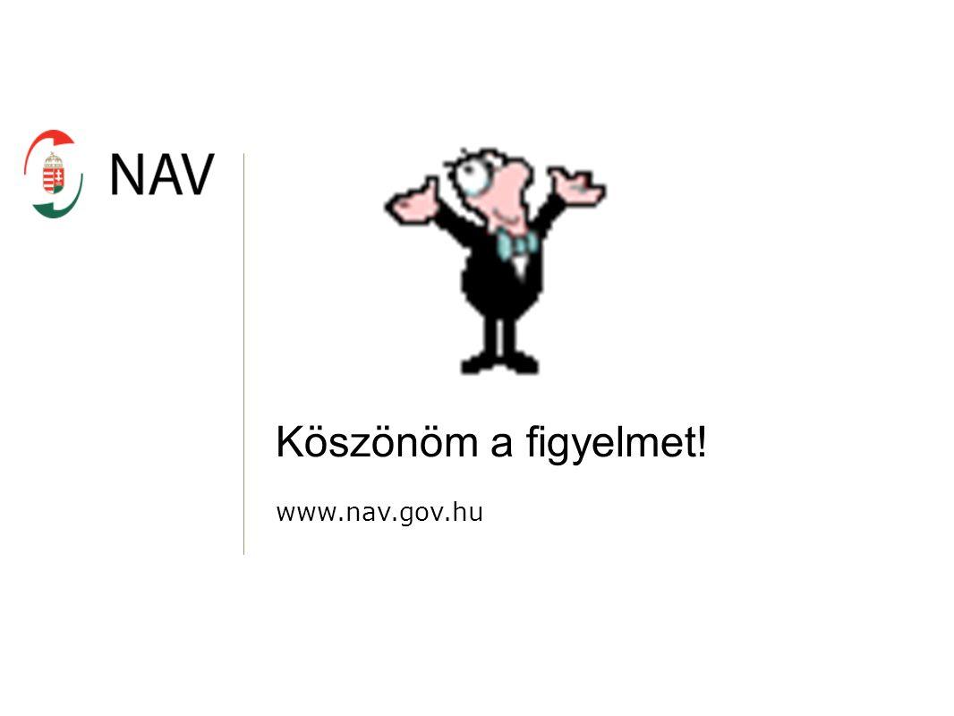Köszönöm a figyelmet! www.nav.gov.hu