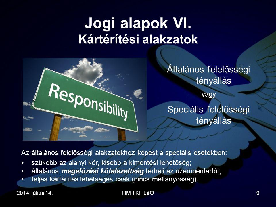 Jogi alapok VI. Kártérítési alakzatok