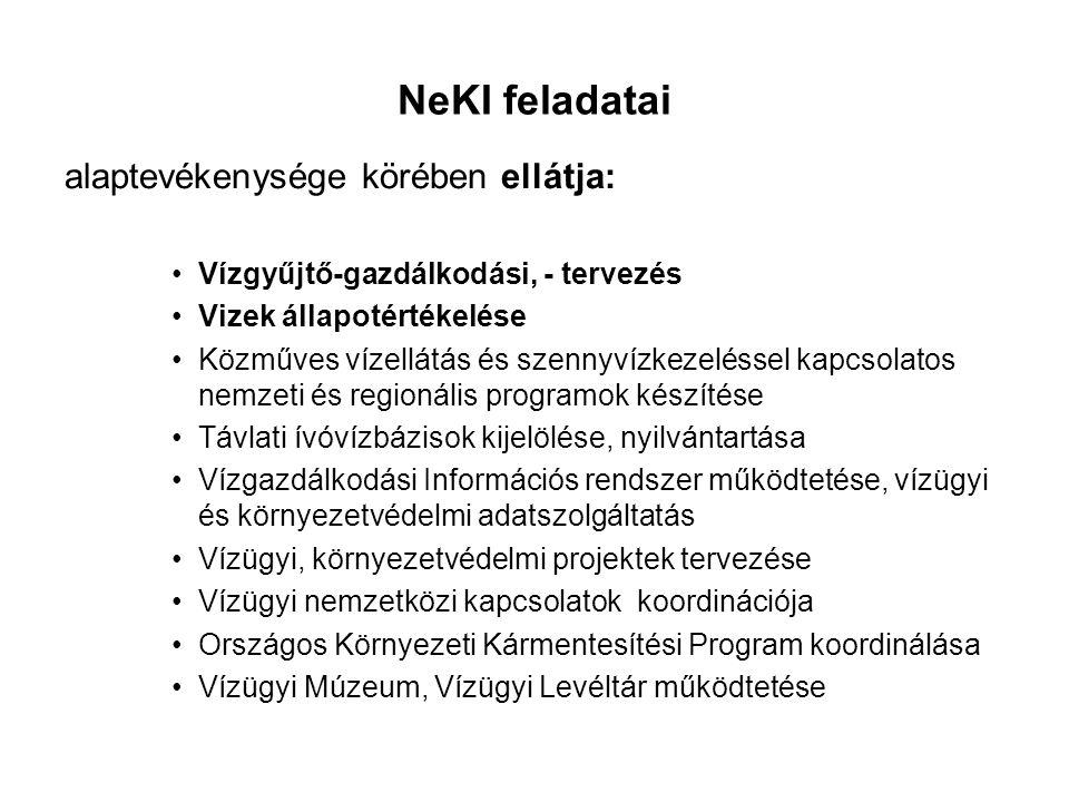 NeKI feladatai alaptevékenysége körében ellátja: