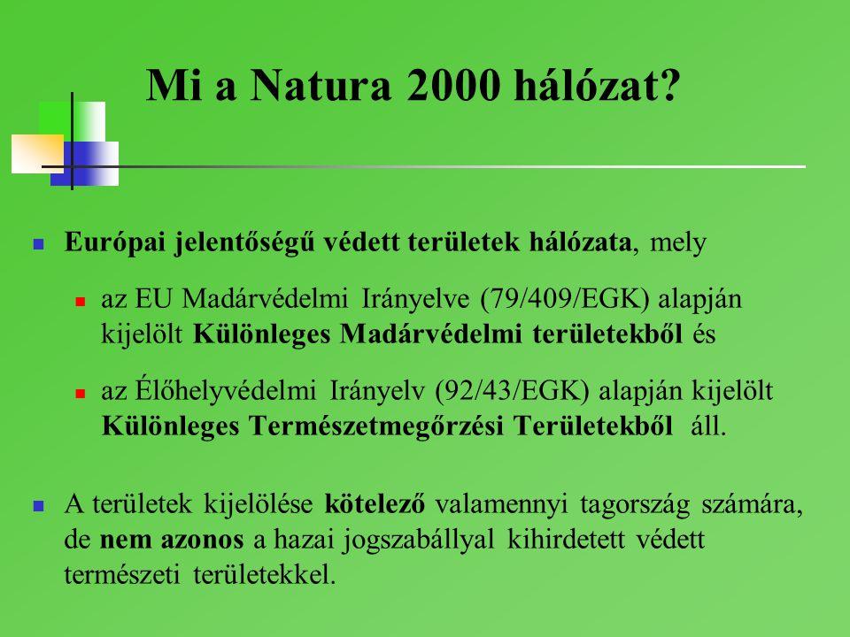 Mi a Natura 2000 hálózat Európai jelentőségű védett területek hálózata, mely.