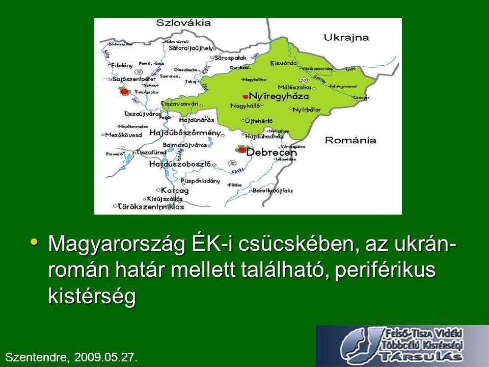 Magyarország ÉK-i csücskében, az ukrán-román határ mellett található, periférikus kistérség